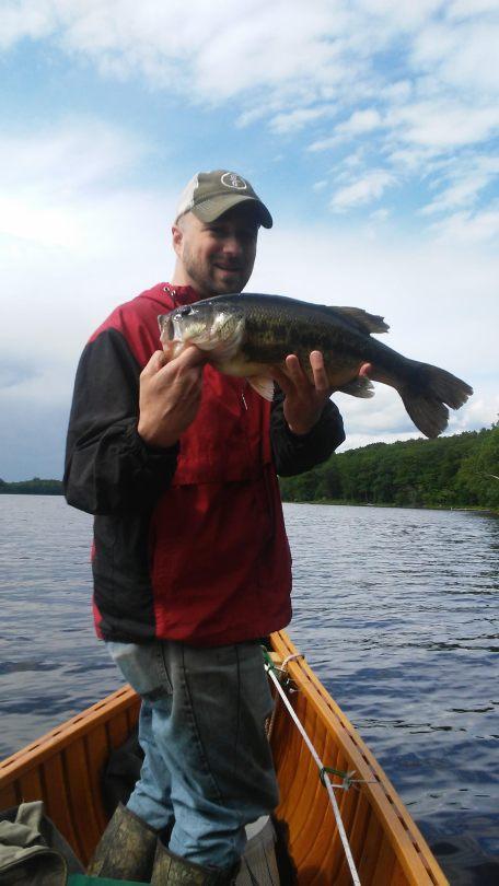 Fishing Bass -- Midcoast Maine
