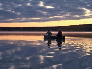 Morning Paddle -- Maine Woods